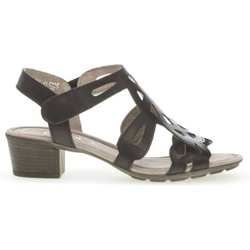 Sandales cuir lisse talon block - Gabor - Modalova