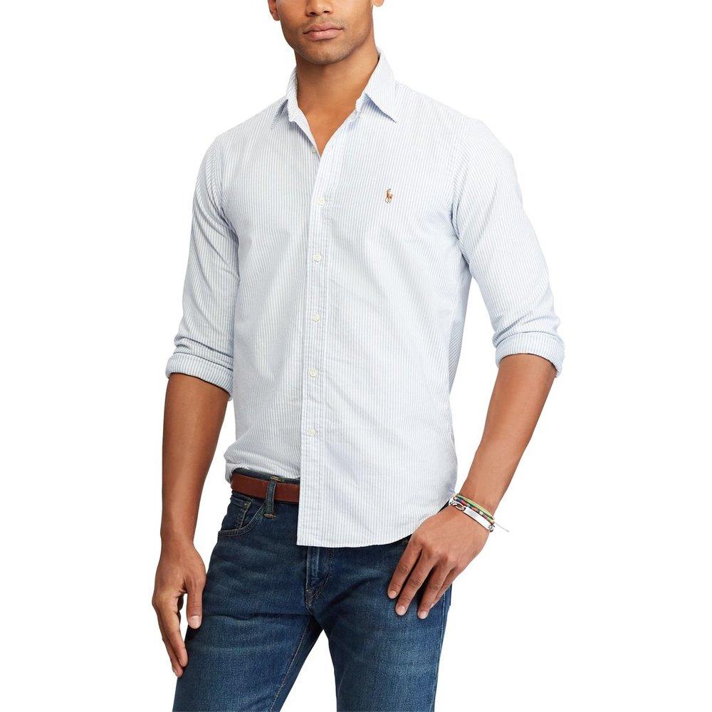 Chemise droite custom fit à rayures - Polo Ralph Lauren - Modalova