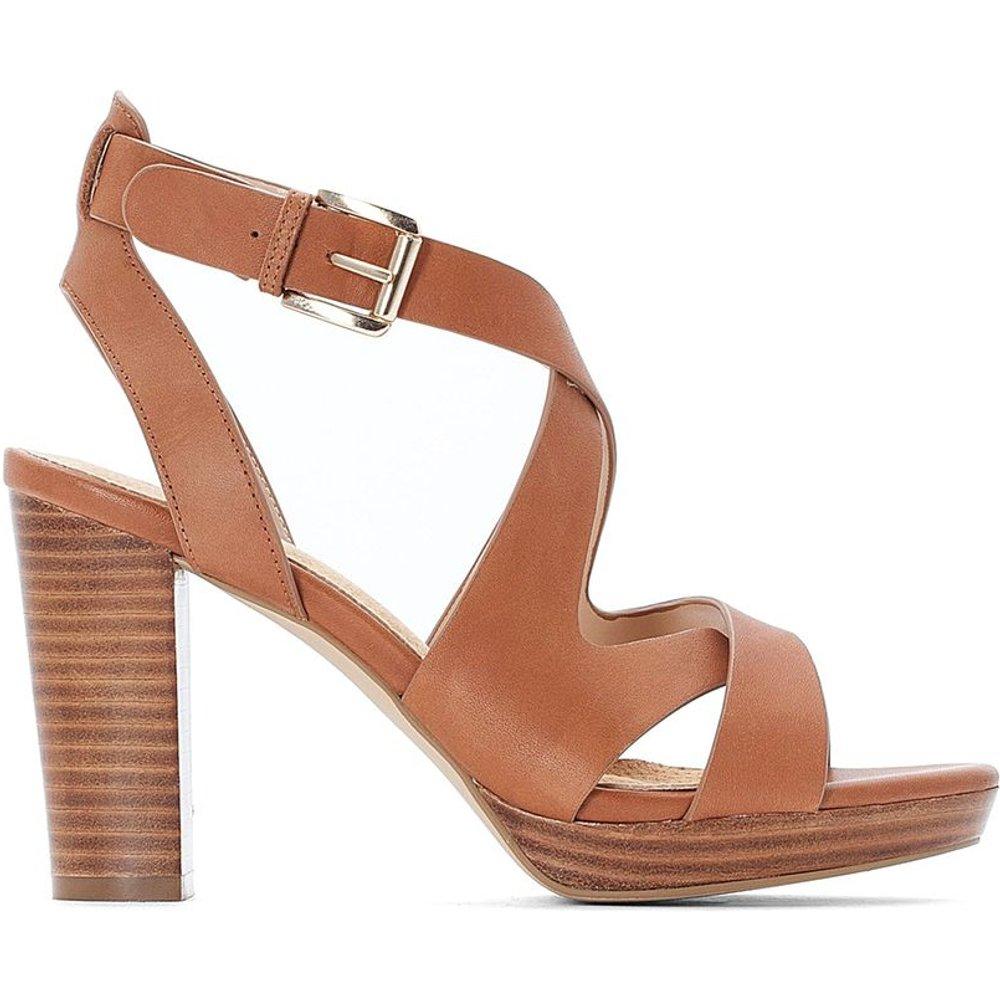 Sandales en cuir talon large - LA REDOUTE COLLECTIONS - Modalova