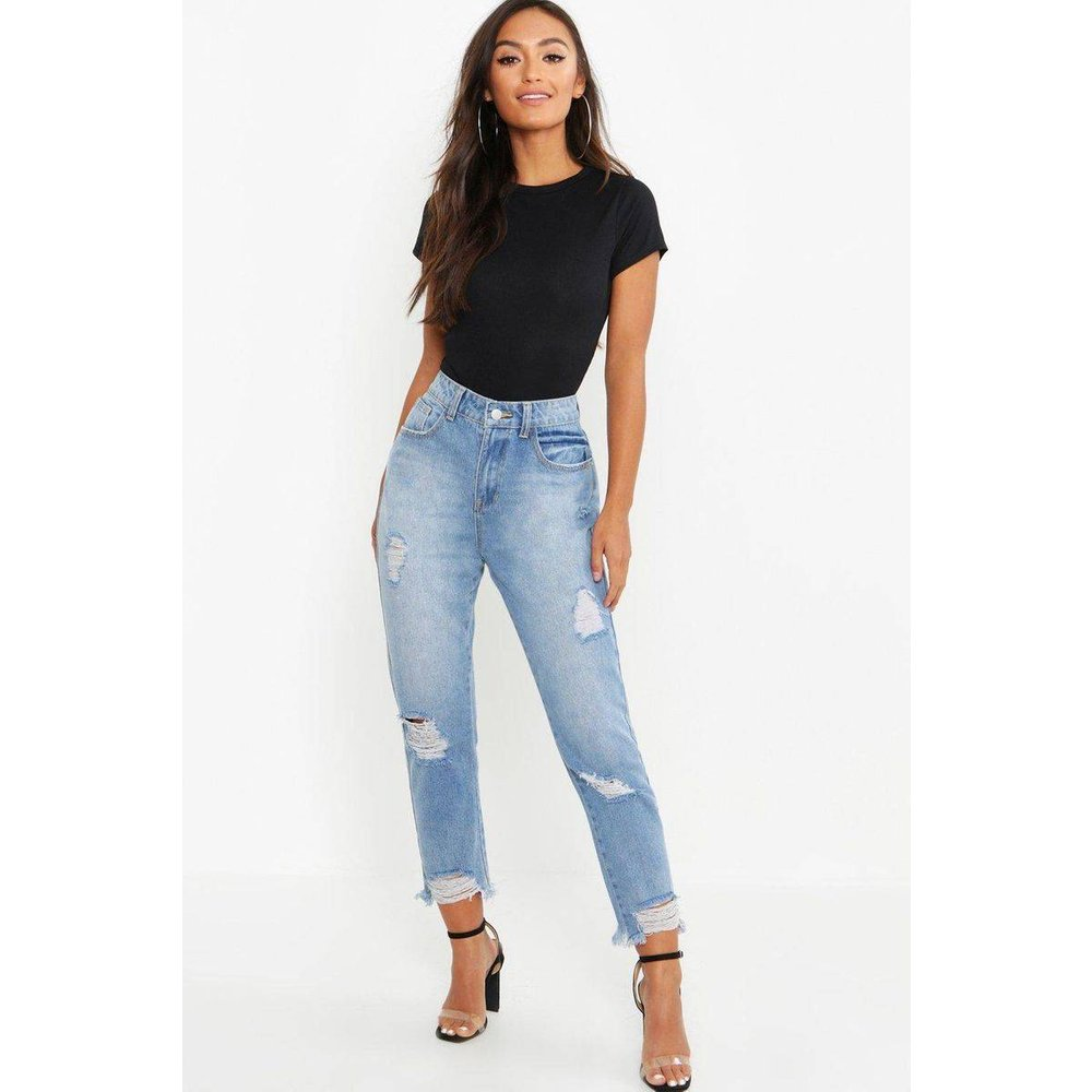 Jean slim Taille Haute - BOOHOO PETITE - Modalova
