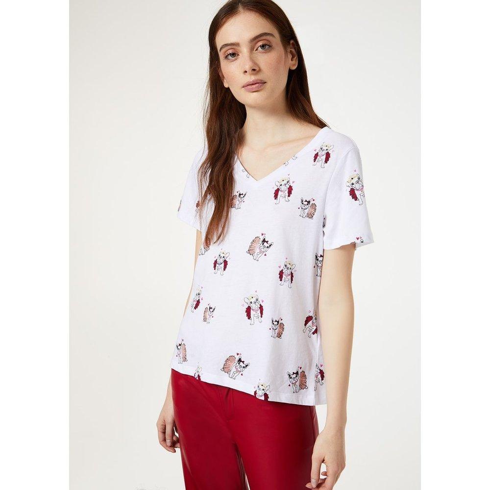 T-shirt avec imprimé chiens - LIU JO - Modalova
