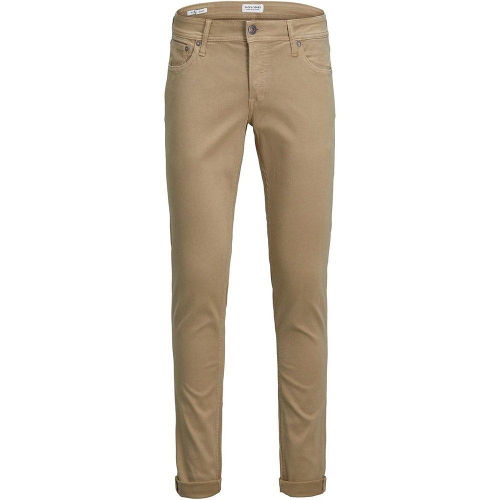 Pantalon coupe slim 5 poches en toile - jack & jones - Modalova