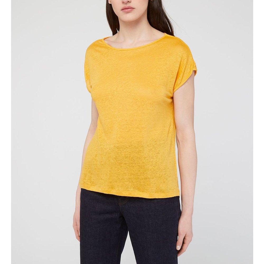 T-shirt Divali Droit En Lin - GALERIES LAFAYETTE - Modalova