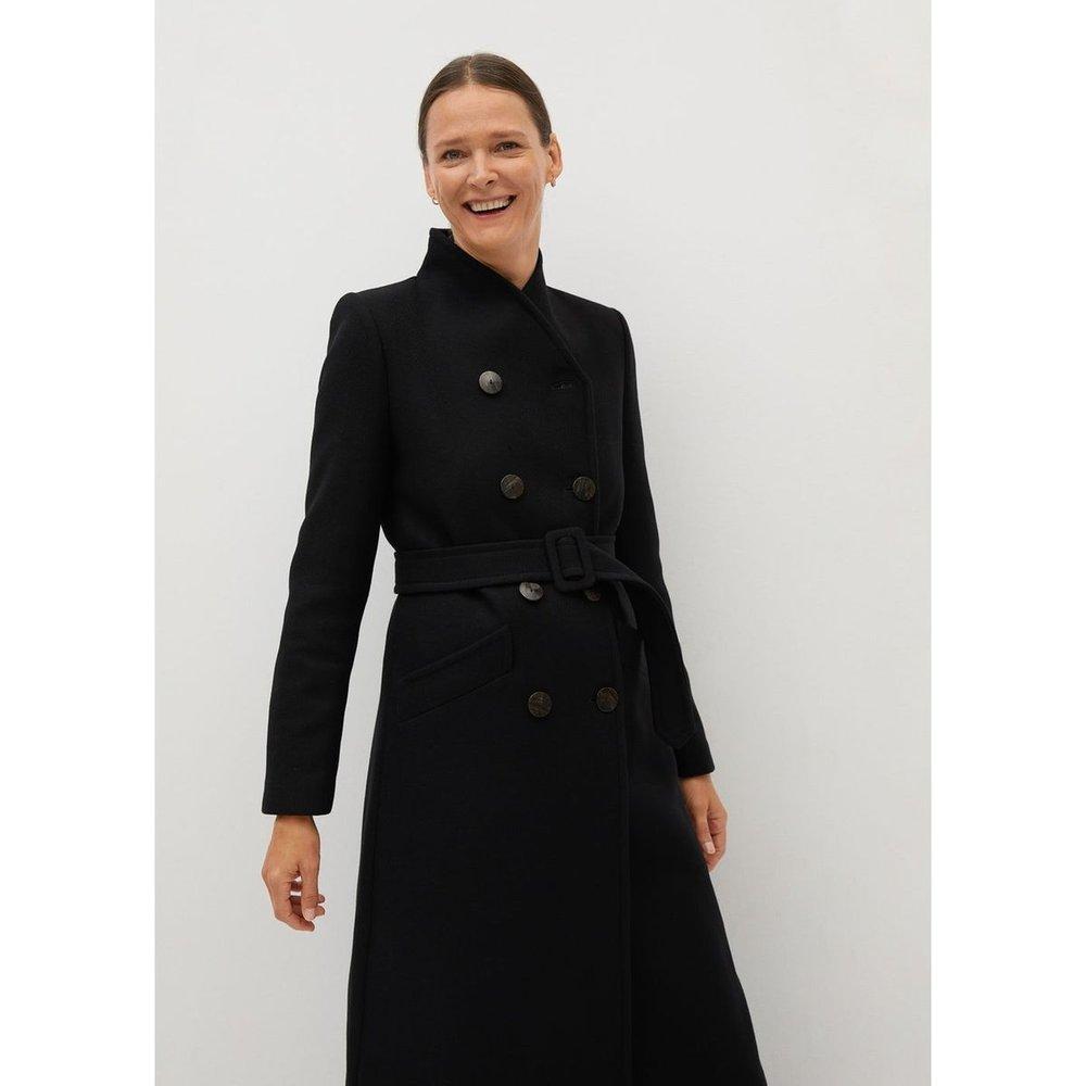 Manteau croisé laine - Mango - Modalova