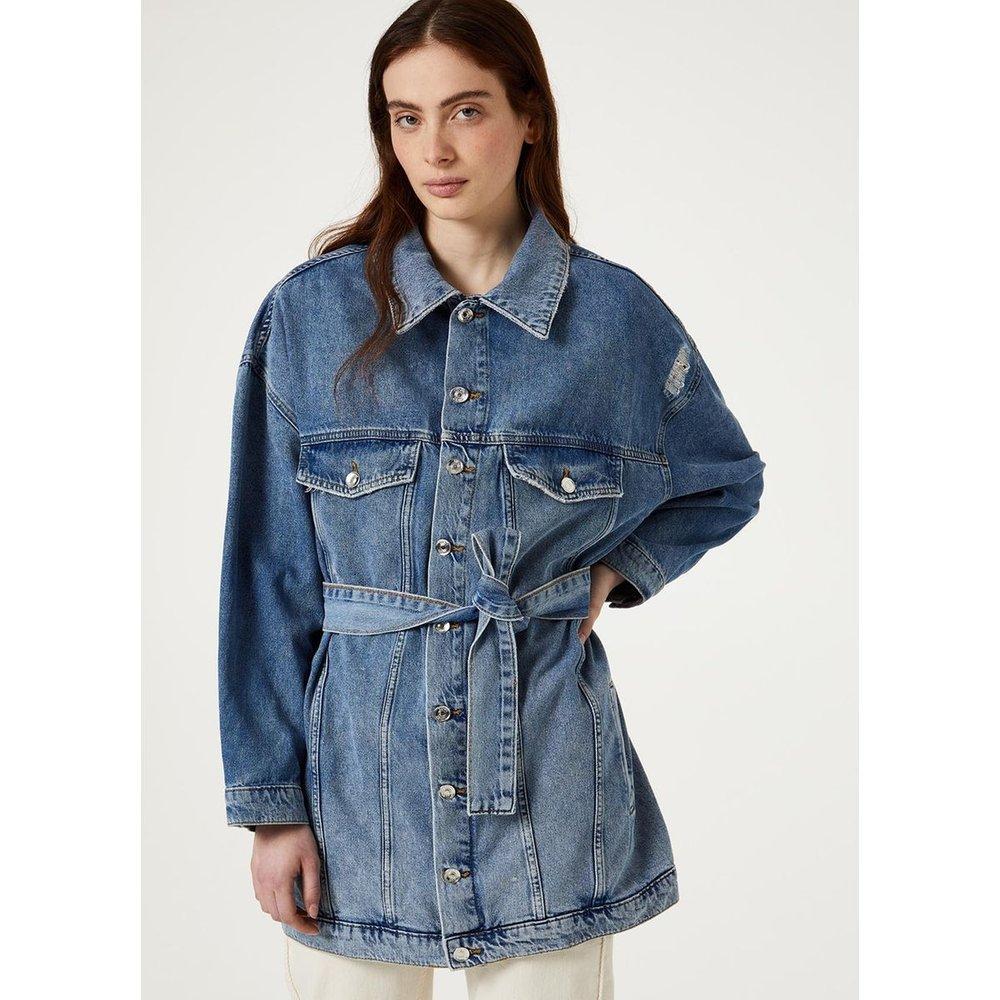 Veste en jean oversize avec ceinture - LIU JO - Modalova