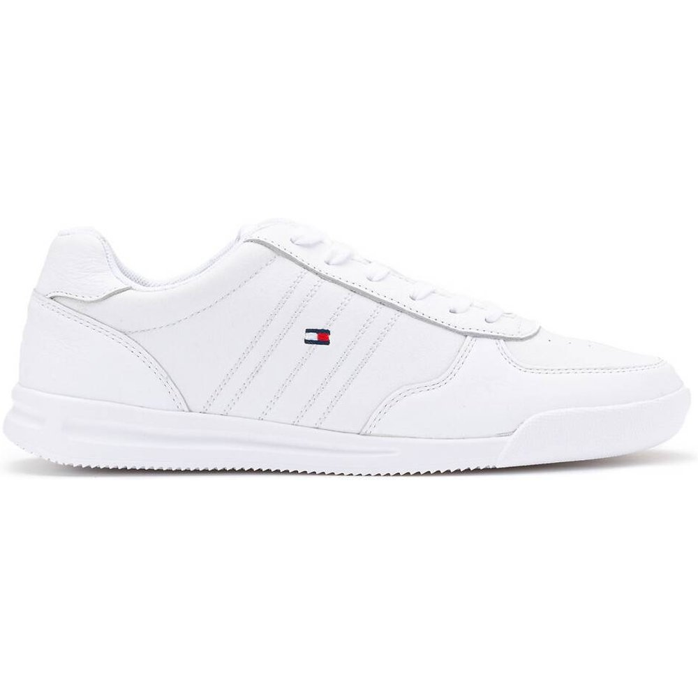 Baskets lightweight leather sneaker flag - Tommy Hilfiger - Modalova