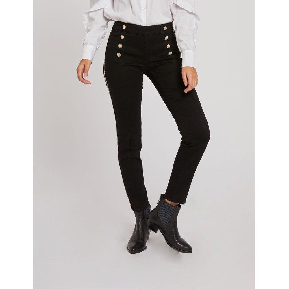 Pantalon slim taille haute à pont - Morgan - Modalova