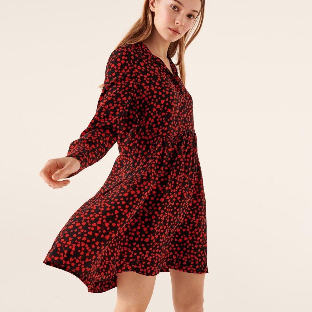 Robe courte manche longue en soie - FROM FUTURE - Modalova