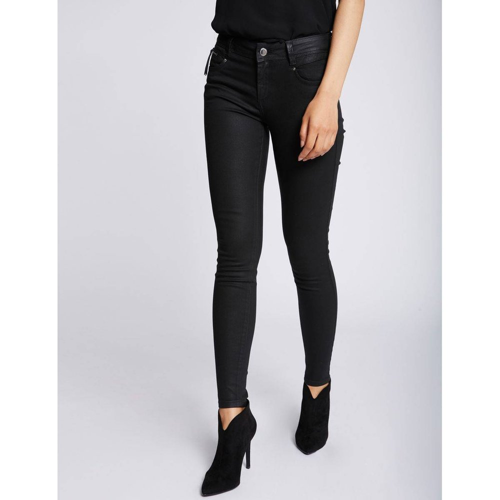 Pantalon coupe slim texturé - Morgan - Modalova