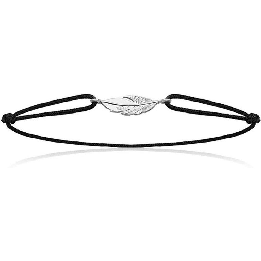 Bracelet cordon PLUME Noir - LORENZO R - Modalova