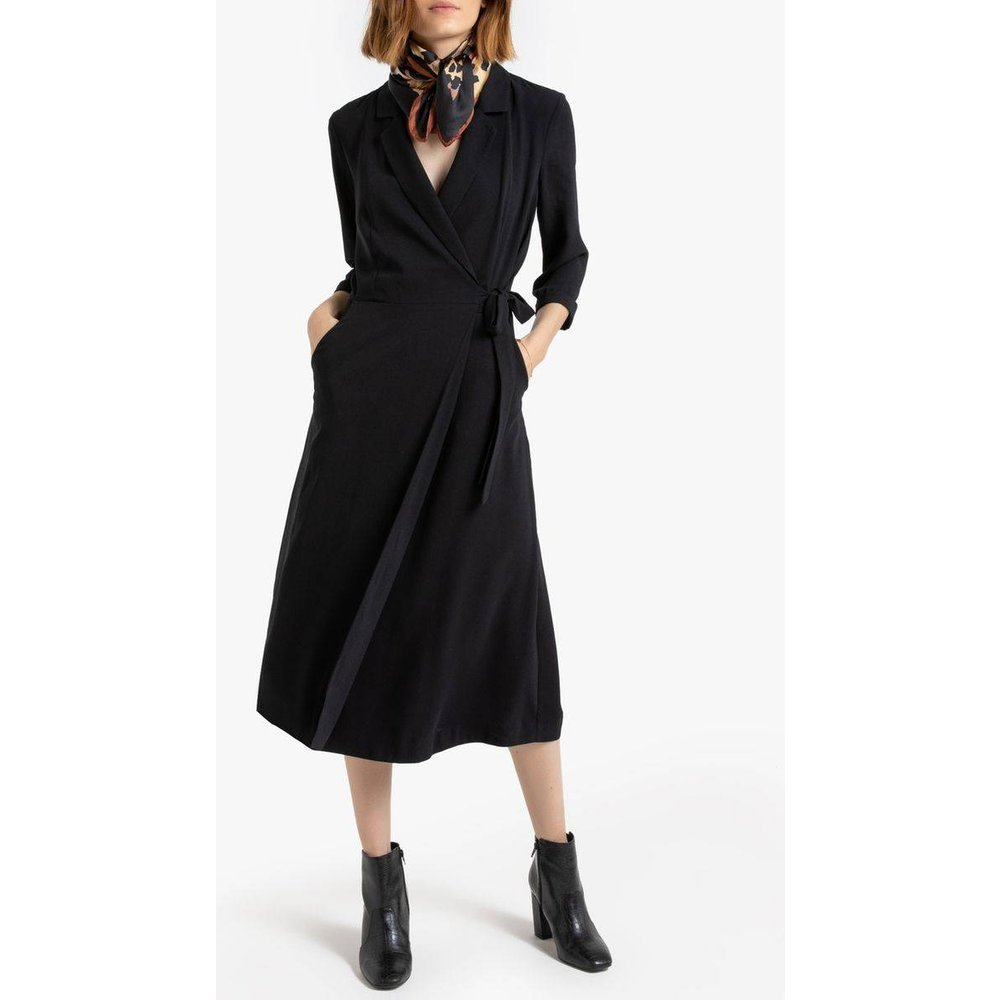 Robe portefeuille col tailleur, manches 3/4 - LA REDOUTE COLLECTIONS - Modalova