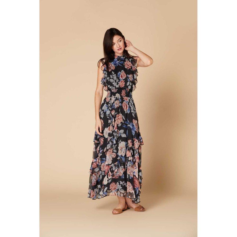 Robe longue fleurie sans manche - Modèle Cash - DERHY - Modalova