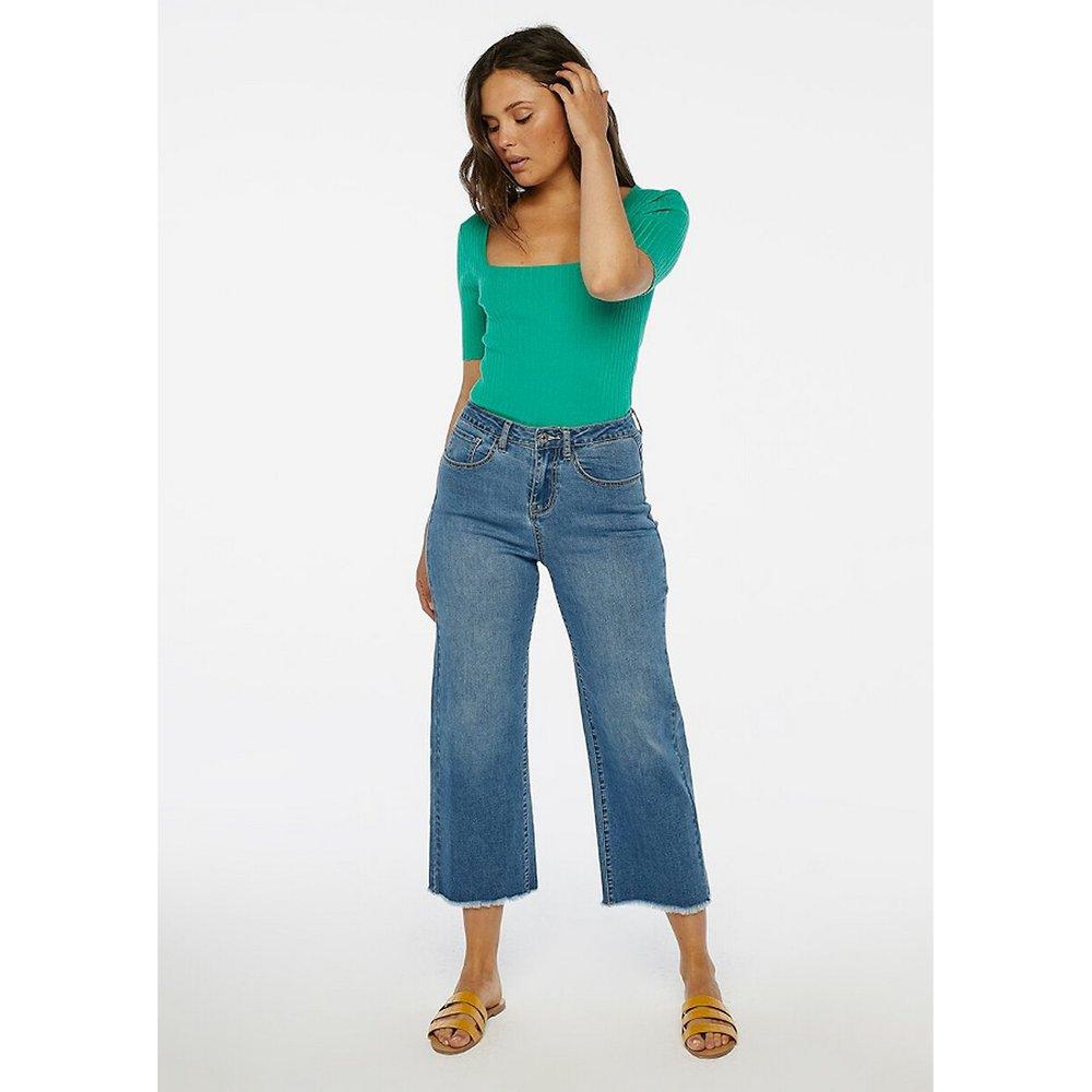 Pantalon large, taille haute en coton mélangé - COMPANIA FANTASTICA - Modalova