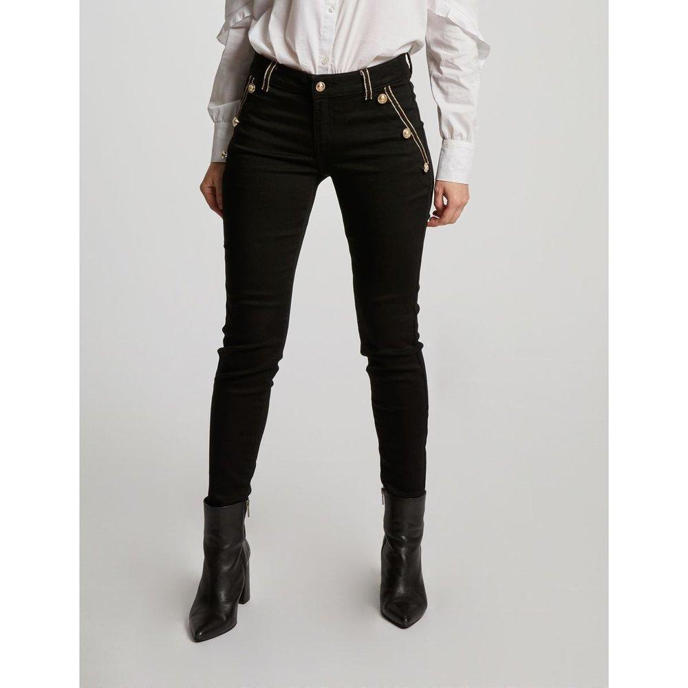 Pantalon slim taille standard à pont - Morgan - Modalova