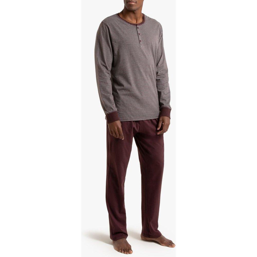Pyjama manches longues col tunisien - LA REDOUTE COLLECTIONS - Modalova