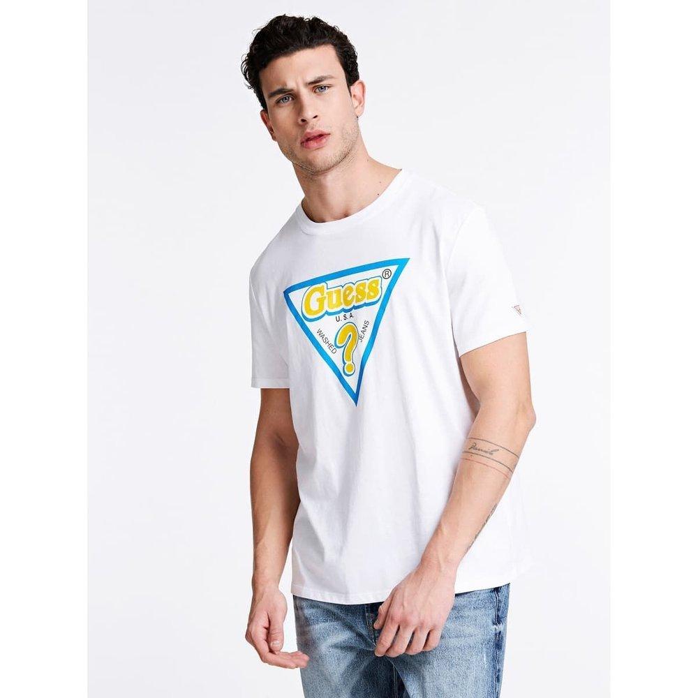 T-Shirt Logo Triangulaire - Guess - Modalova