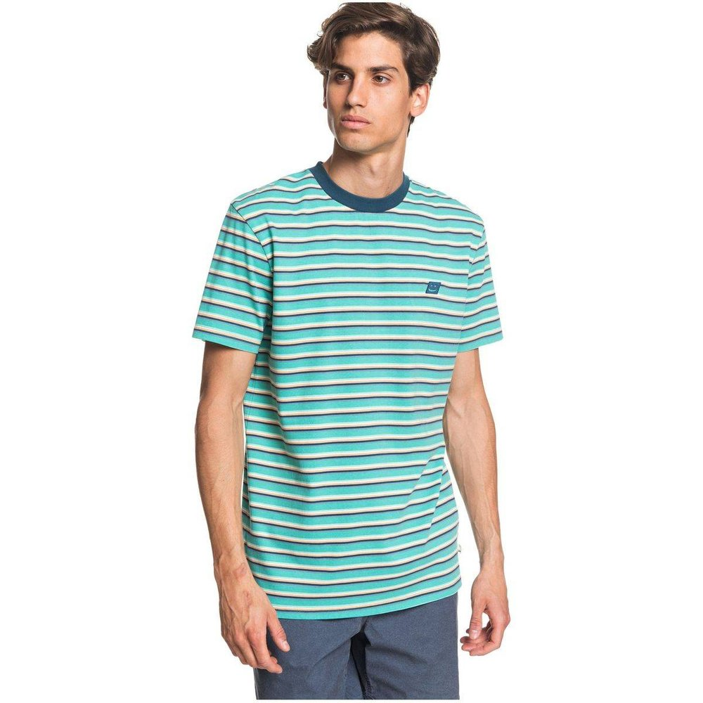 T-shirt rayé, manches courtes, coton - Quiksilver - Modalova