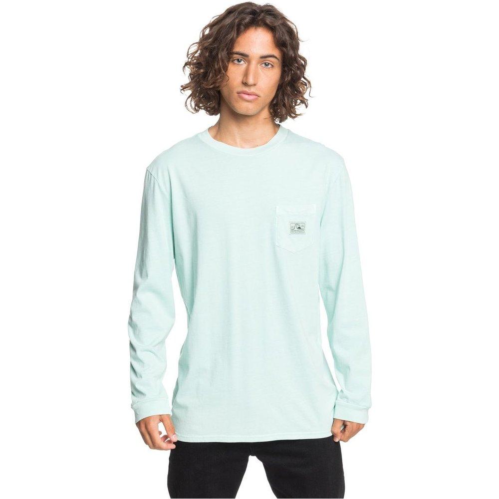T-shirt manches longues avec poche col rond - Quiksilver - Modalova