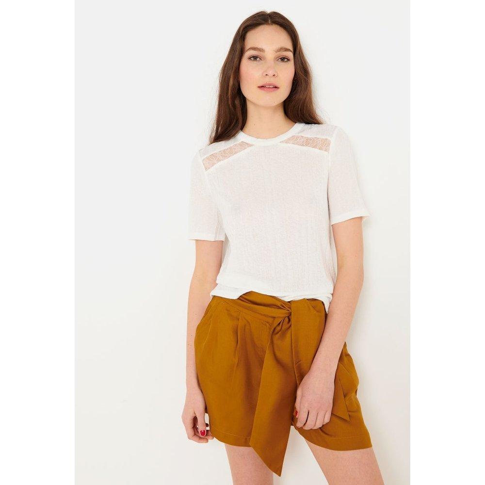 T-shirt dentelle - CAMAIEU - Modalova