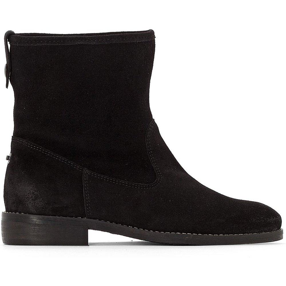 Boots en cuir intérieur fourré - LA REDOUTE COLLECTIONS - Modalova