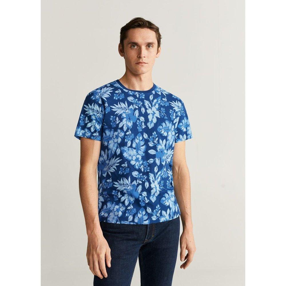T-shirt en coton imprimé - mango man - Modalova
