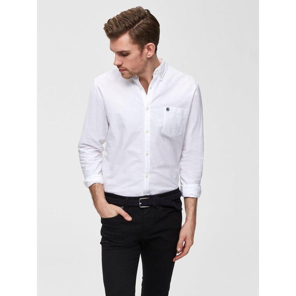 Chemise coton droite Héritage - Selected Homme - Modalova