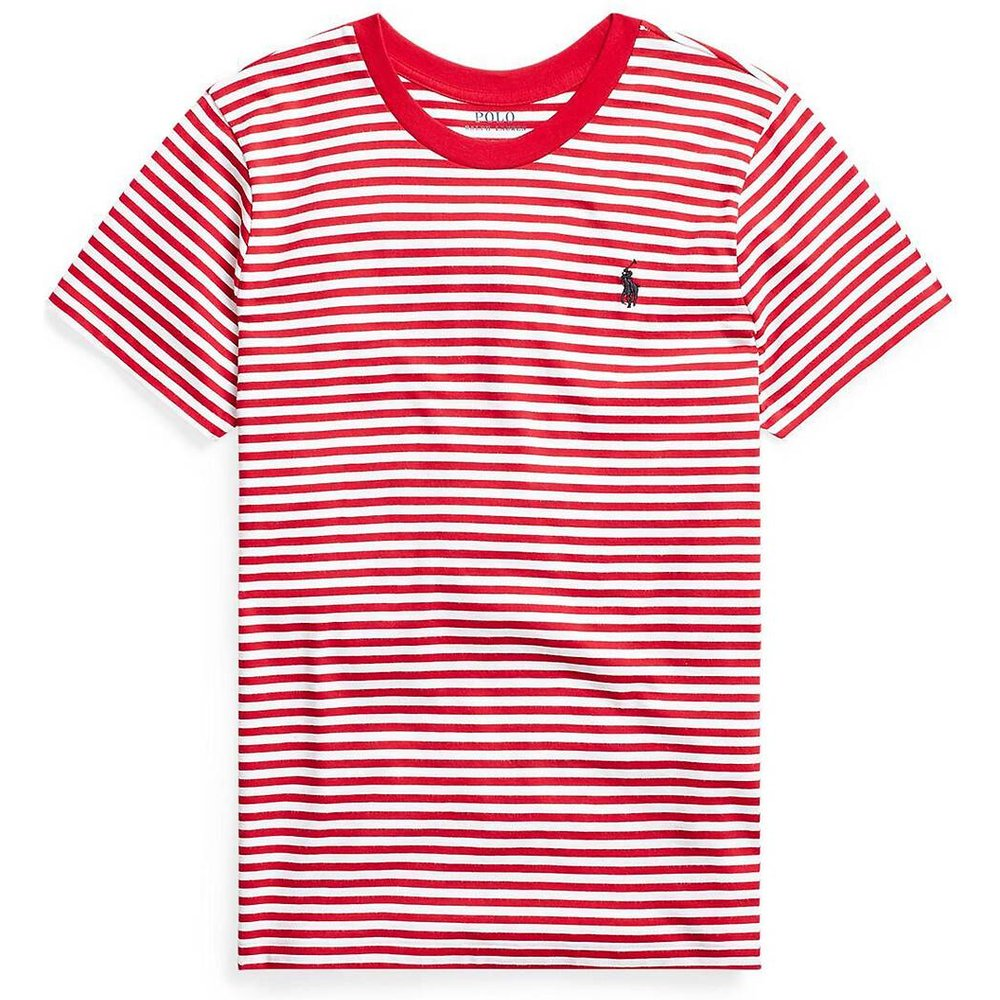 Tee shirt rayé col rond manches courtes - Polo Ralph Lauren - Modalova