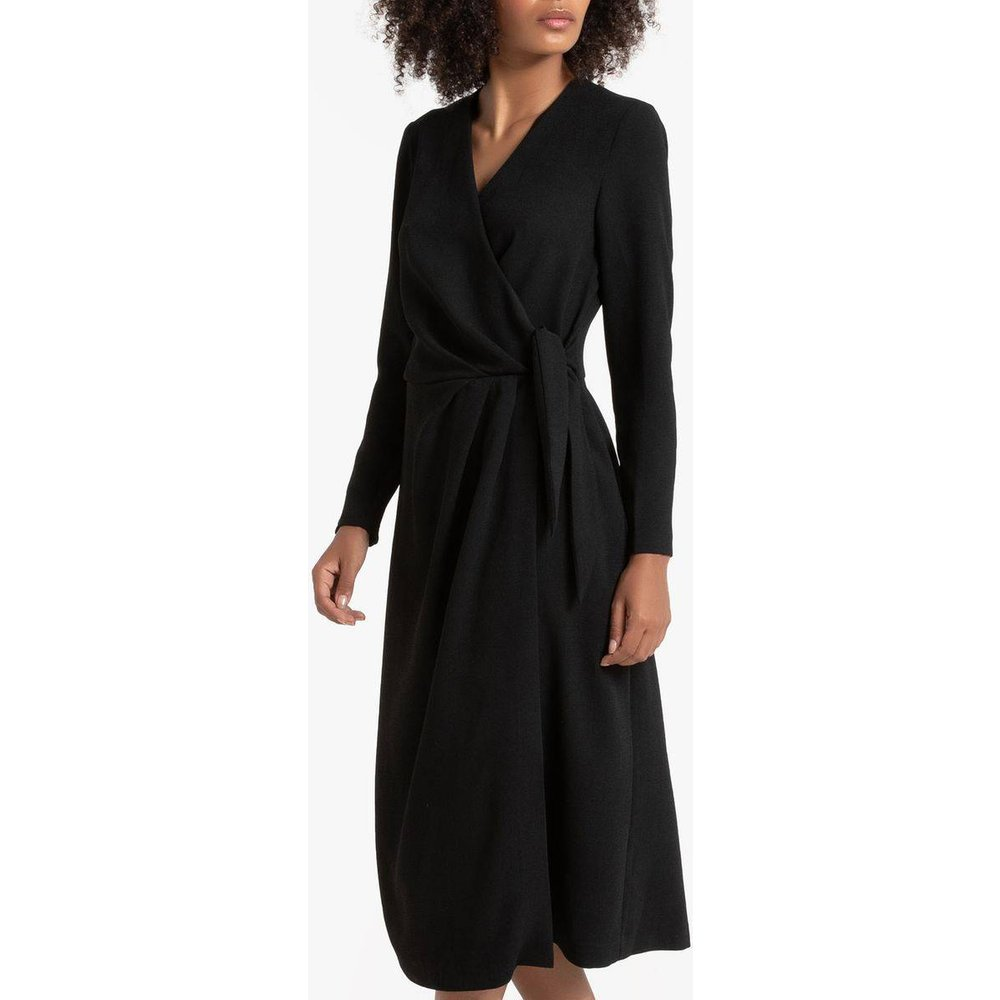 Robe effet portefeuille, manches longues - LA REDOUTE COLLECTIONS - Modalova