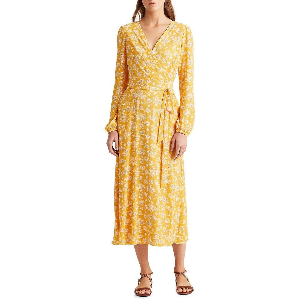Robe imprimée longue à manches longues - Lauren Ralph Lauren - Modalova