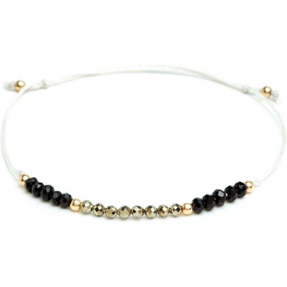 Bracelet cordon Pierres White Swan - YAY- YOU ARE YOUNG - Modalova