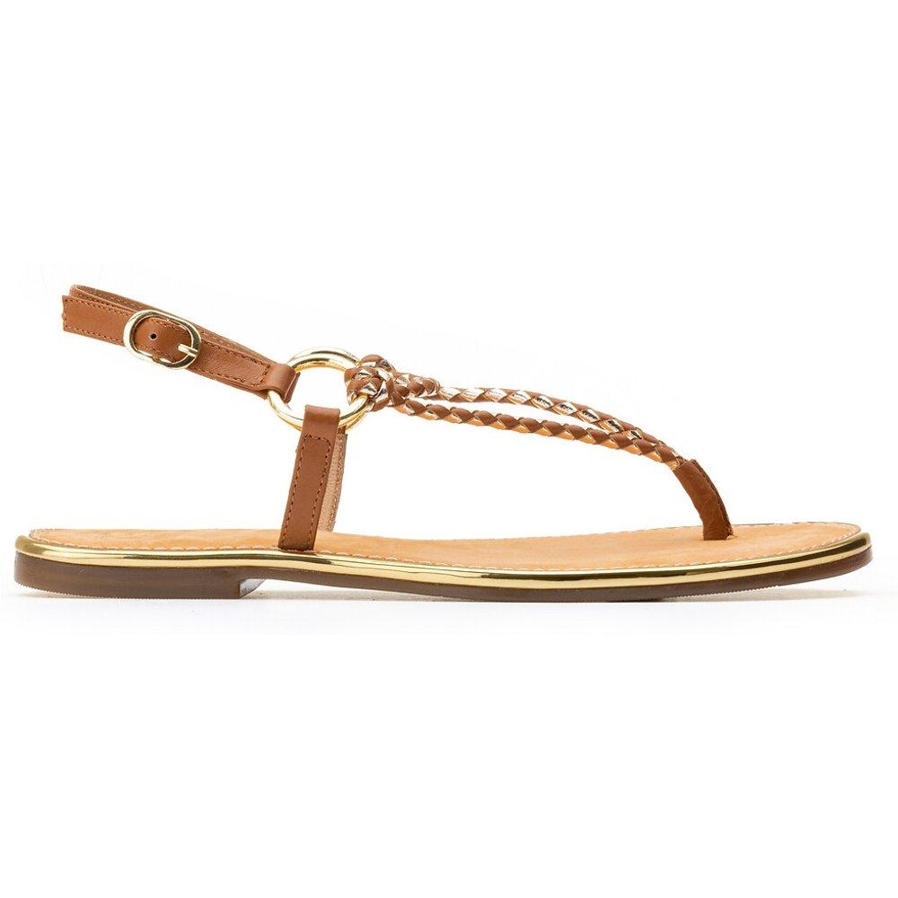 Sandales en cuir talon plat - LA REDOUTE COLLECTIONS - Modalova