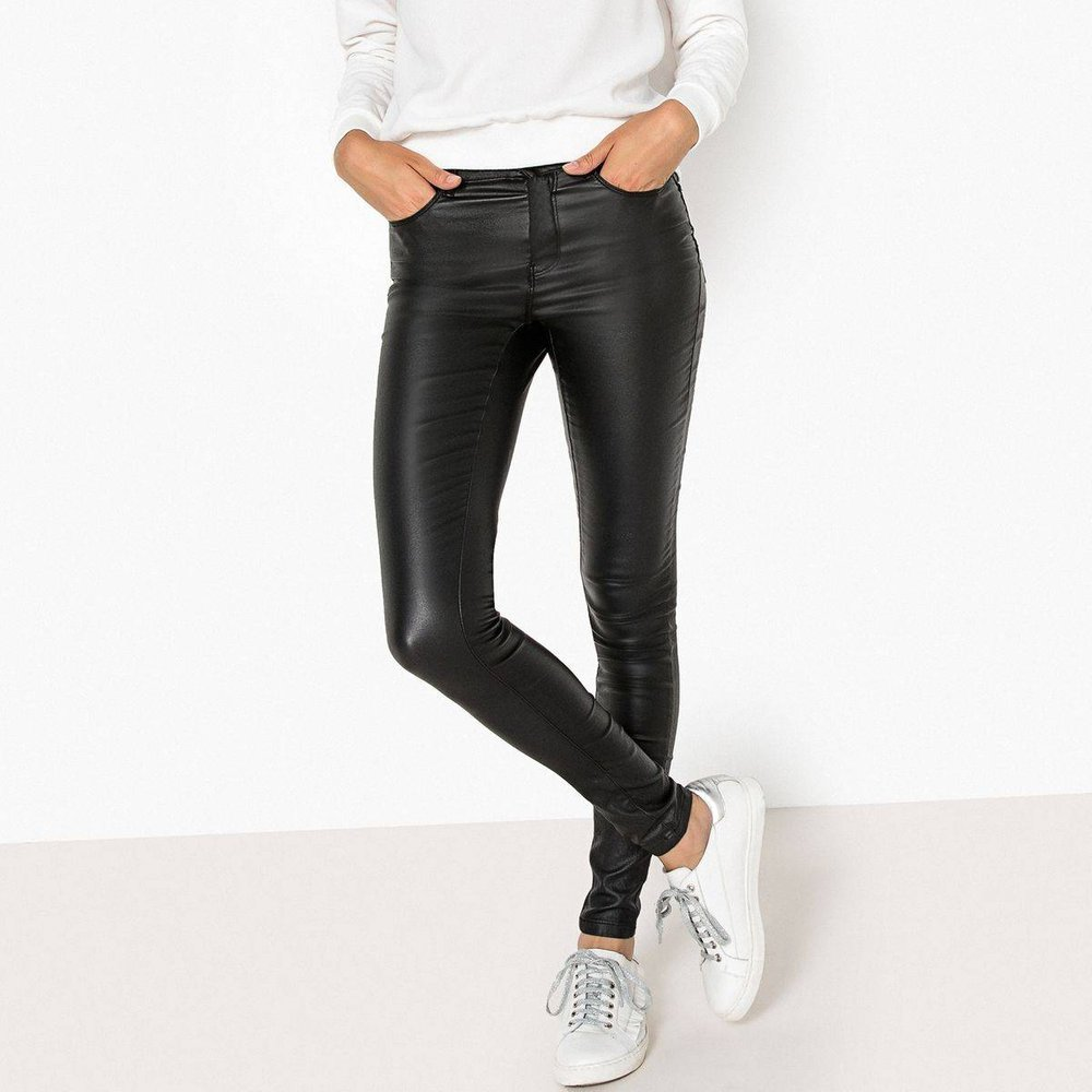 Pantalon slim enduit 5 poches longueur 30 - Only - Modalova