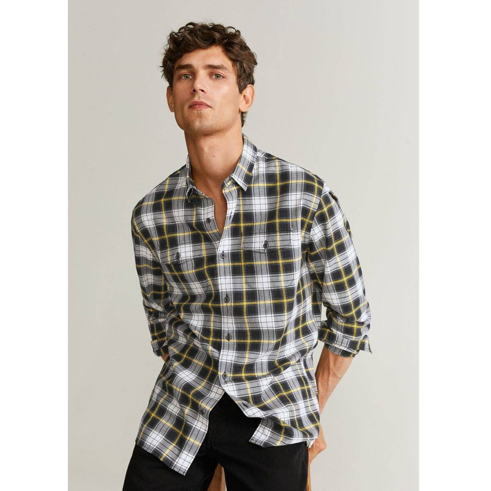 Chemise regular-fit à carreaux en coton - mango man - Modalova