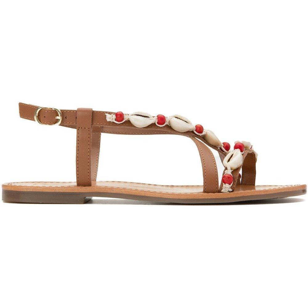 Sandales en cuir à brides détails coquillages - LA REDOUTE COLLECTIONS - Modalova
