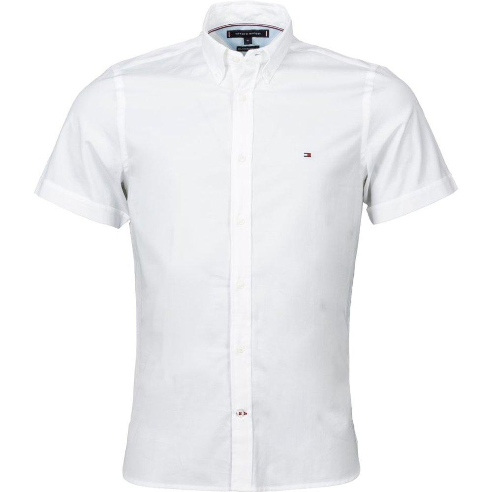 Chemise manches courtes coupe ajustée coton - Tommy Hilfiger - Modalova