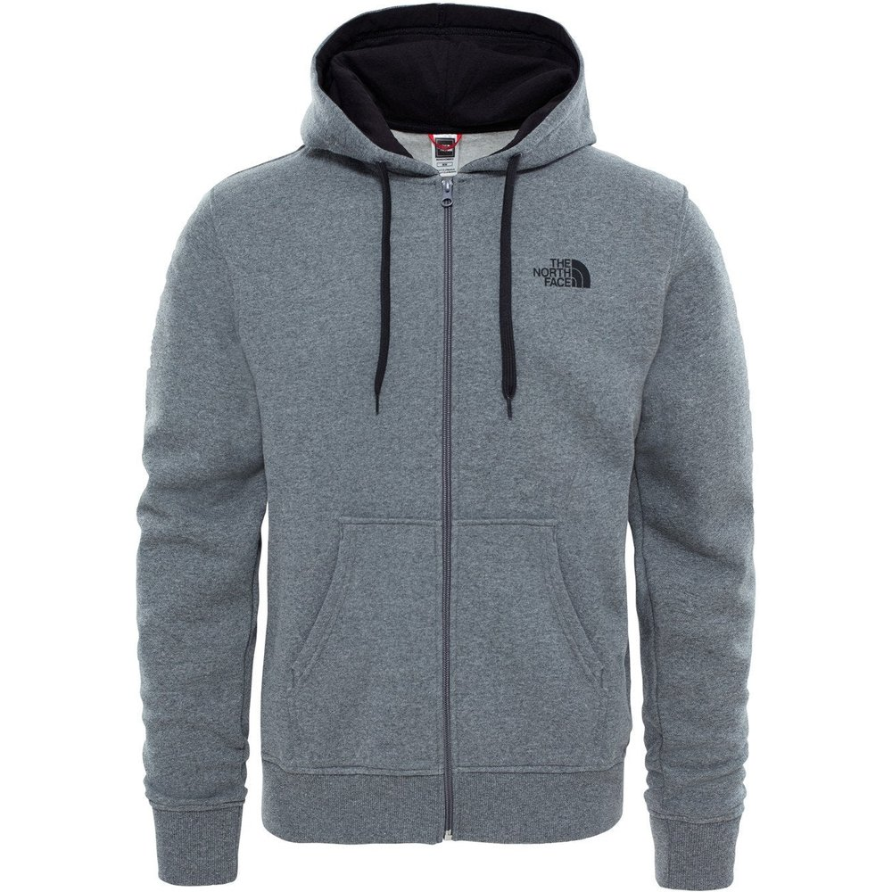 The North Face Men's Open Gate Full Zip Hoody - TNF Medium Grey Heather/TNF Black - S - Grey