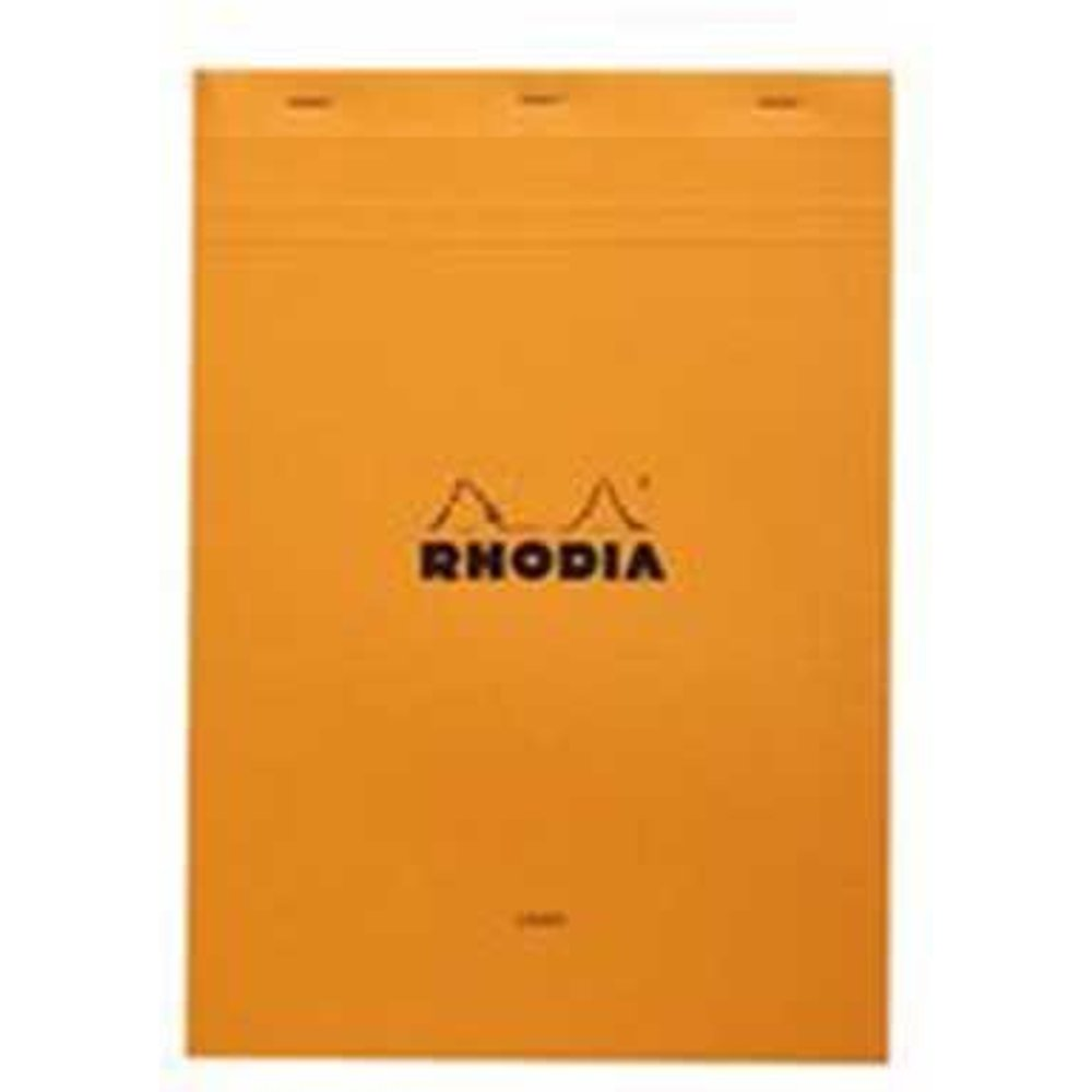 Rhodia Head Stapled Pad, No18 A4, Lined - Orange