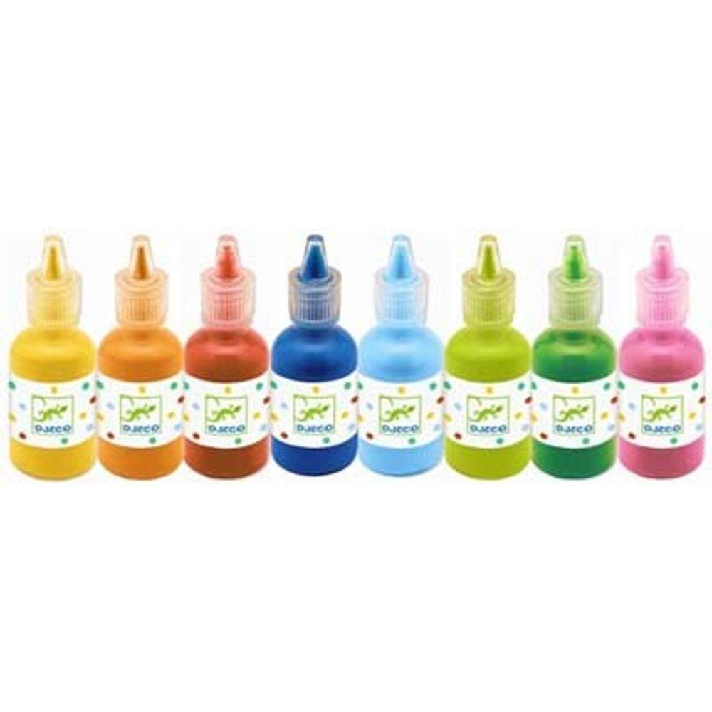 Colores para peques 8 botes de témpera