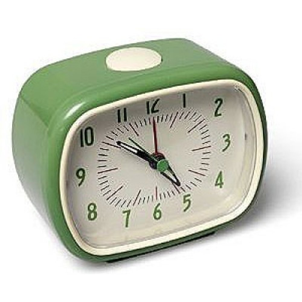 dotcomgiftshop Alarm Clock Bake-A-Like - Choice Of Colour Green