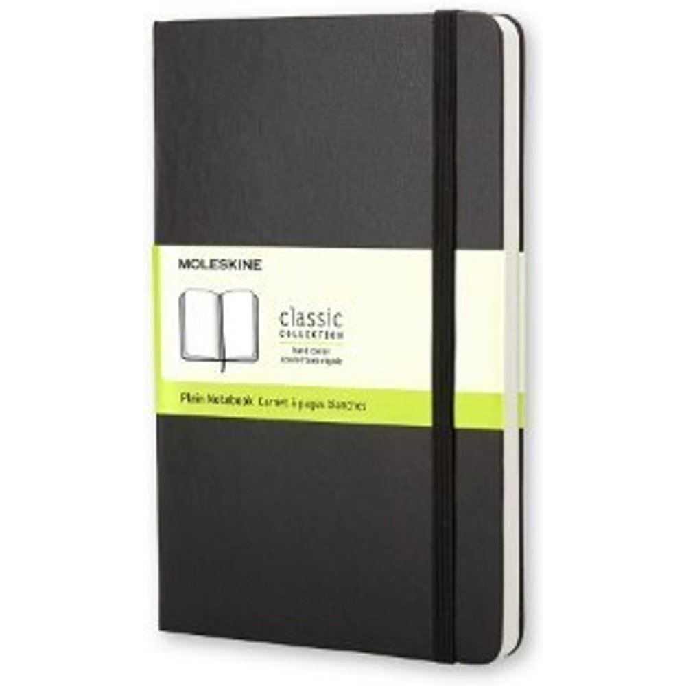 Moleskine Classic Plain Paper Notebook - Hard Cover and Elastic ClosureJournal, Black, Extra Large 19 x 25 A4, 192 Pages