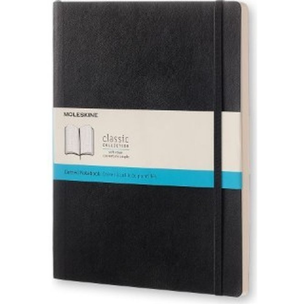 Moleskine Classic Dotted Paper Notebook - Soft Cover and Elastic Closure Journal - Color Black - X- Large 19 x 25 A4 - 192 Pages