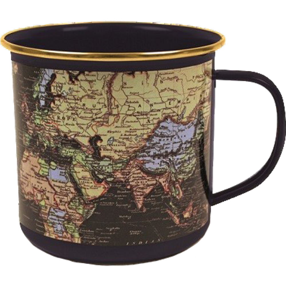 Gift Republic GR540001 The Man of The World Blue Enamel Mug