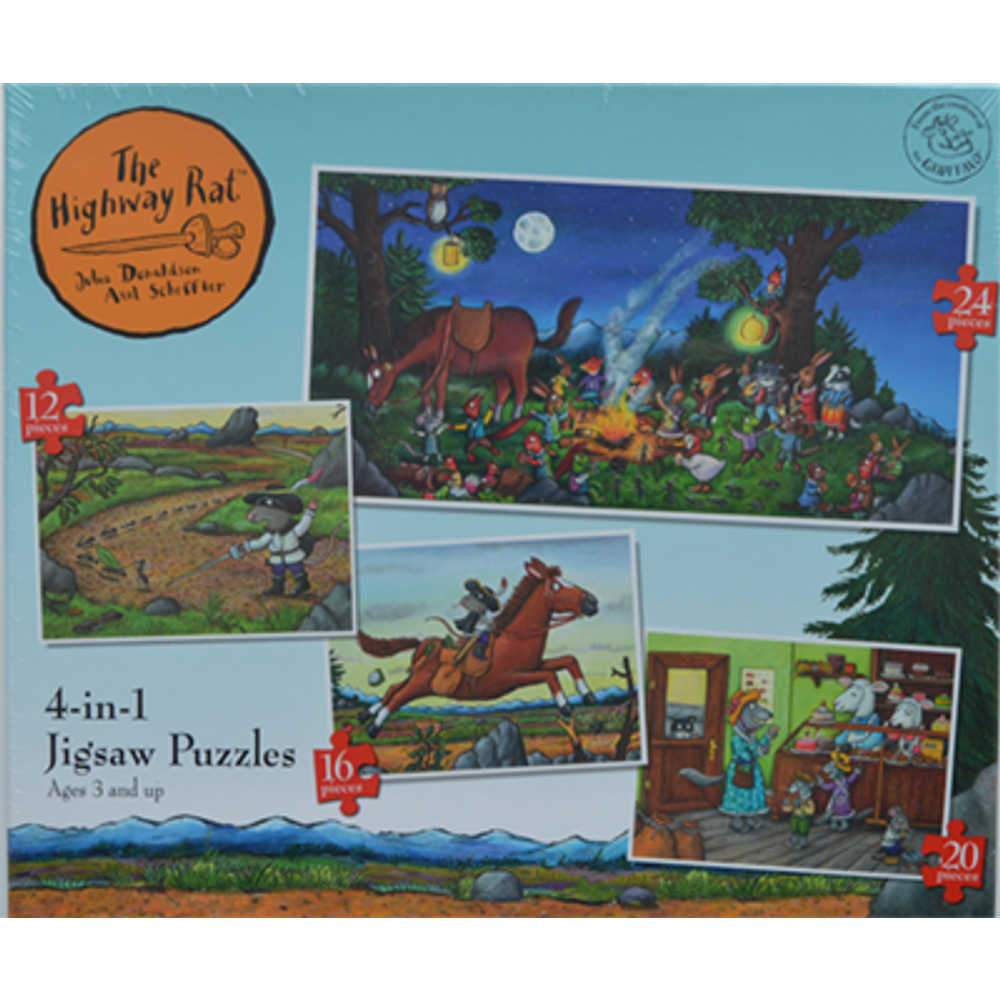Highway Rat 4 In 1 Jigsaw Puzzles