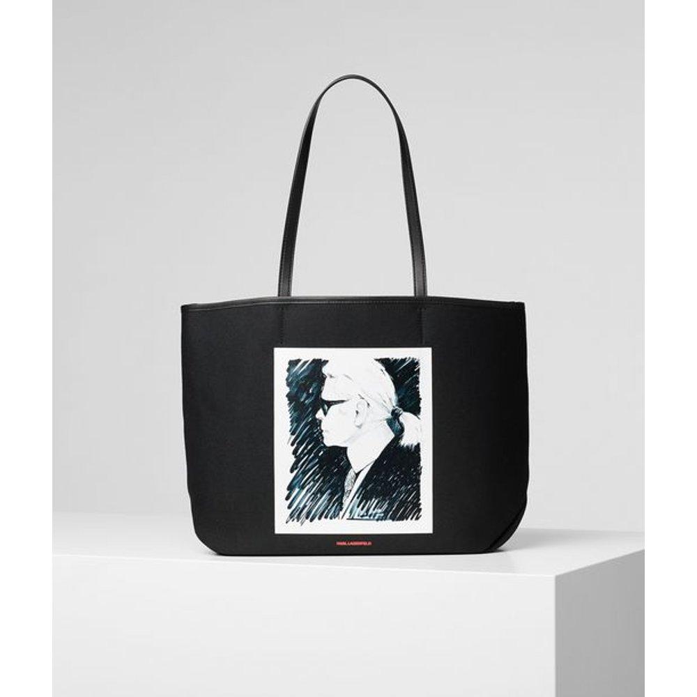 CABAS EN TOILE KARL LEGEND - Karl Lagerfeld - Modalova