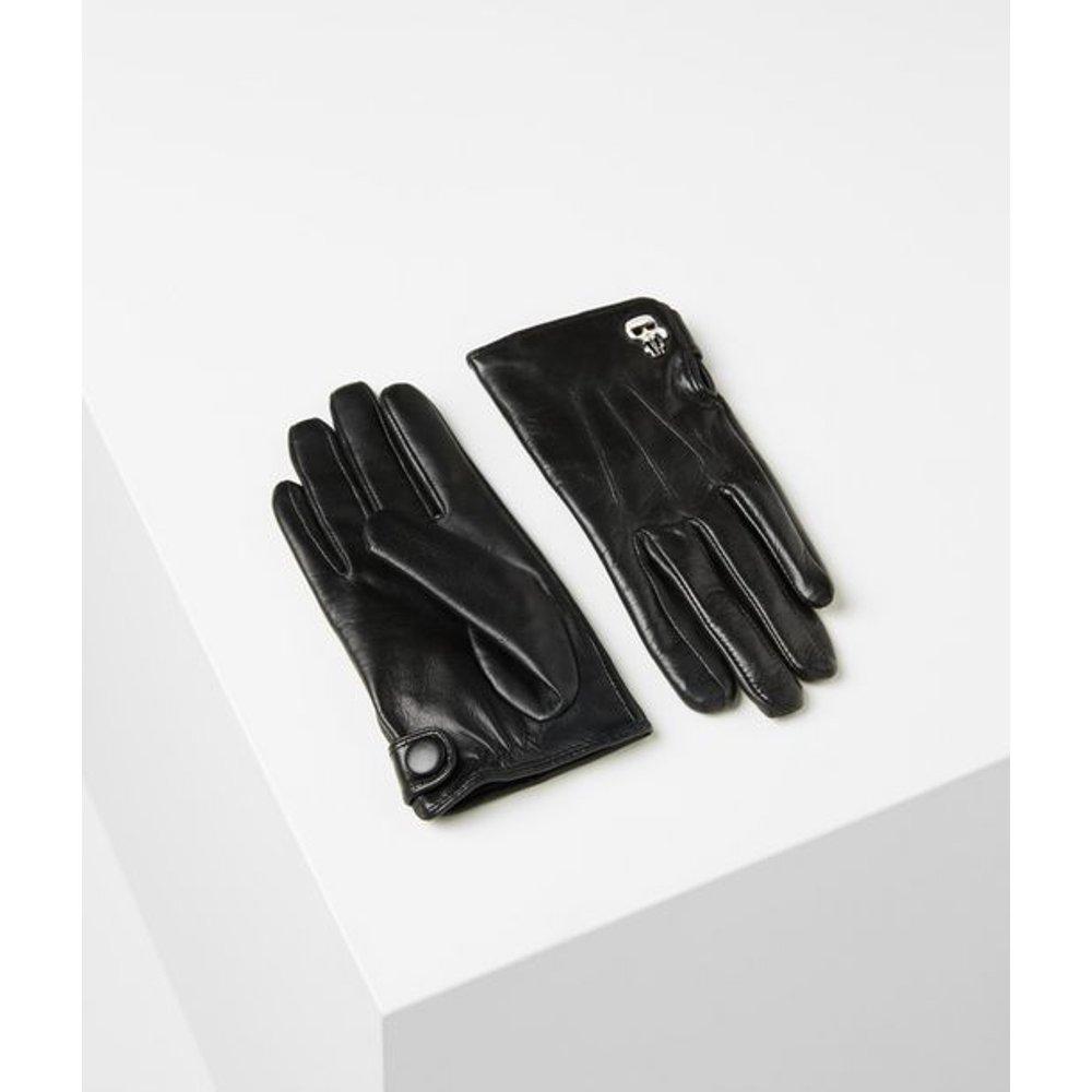 Gants en cuir K/Ikonik - Karl Lagerfeld - Modalova