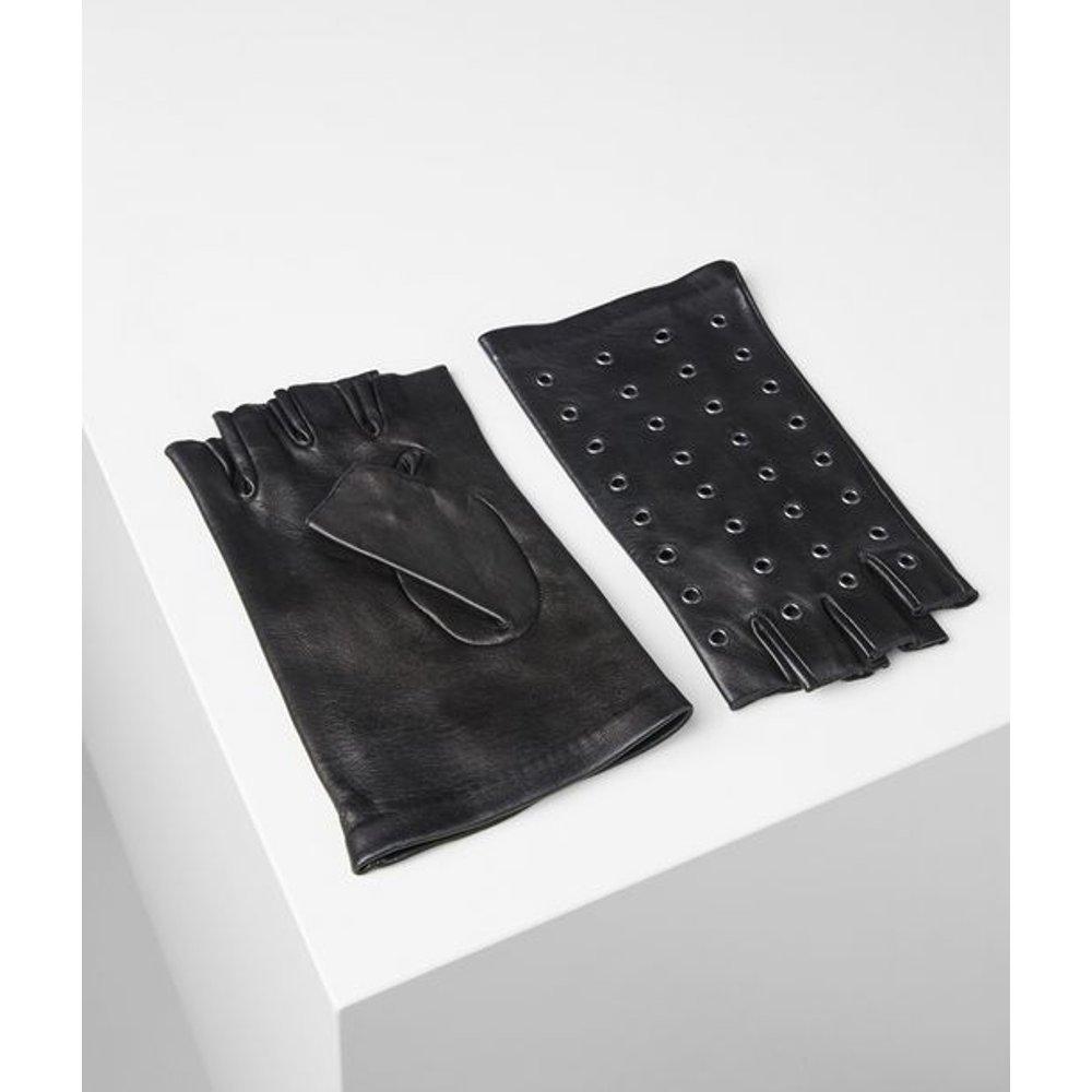 Gants en cuir métallisé - Karl Lagerfeld - Modalova