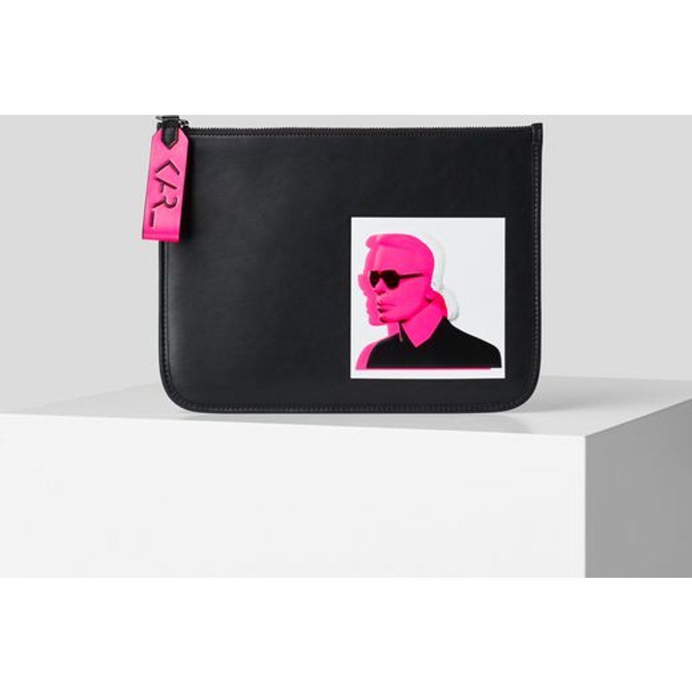 POCHETTE EN CUIR KARL LEGEND - Karl Lagerfeld - Modalova