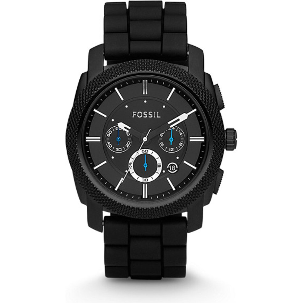 Men Montre Machine Chronographe En Silicone - Fossil - Modalova