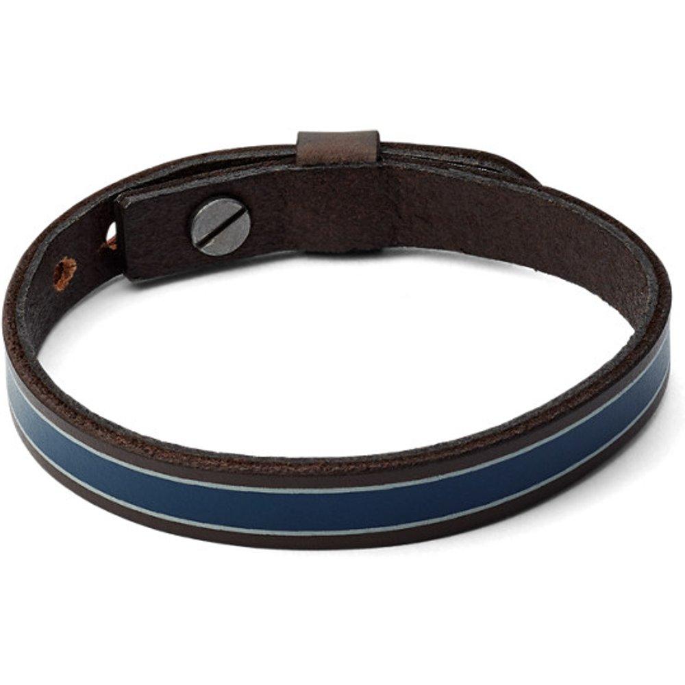Men Bracelet En Cuir À Rayures - One size - Fossil - Modalova