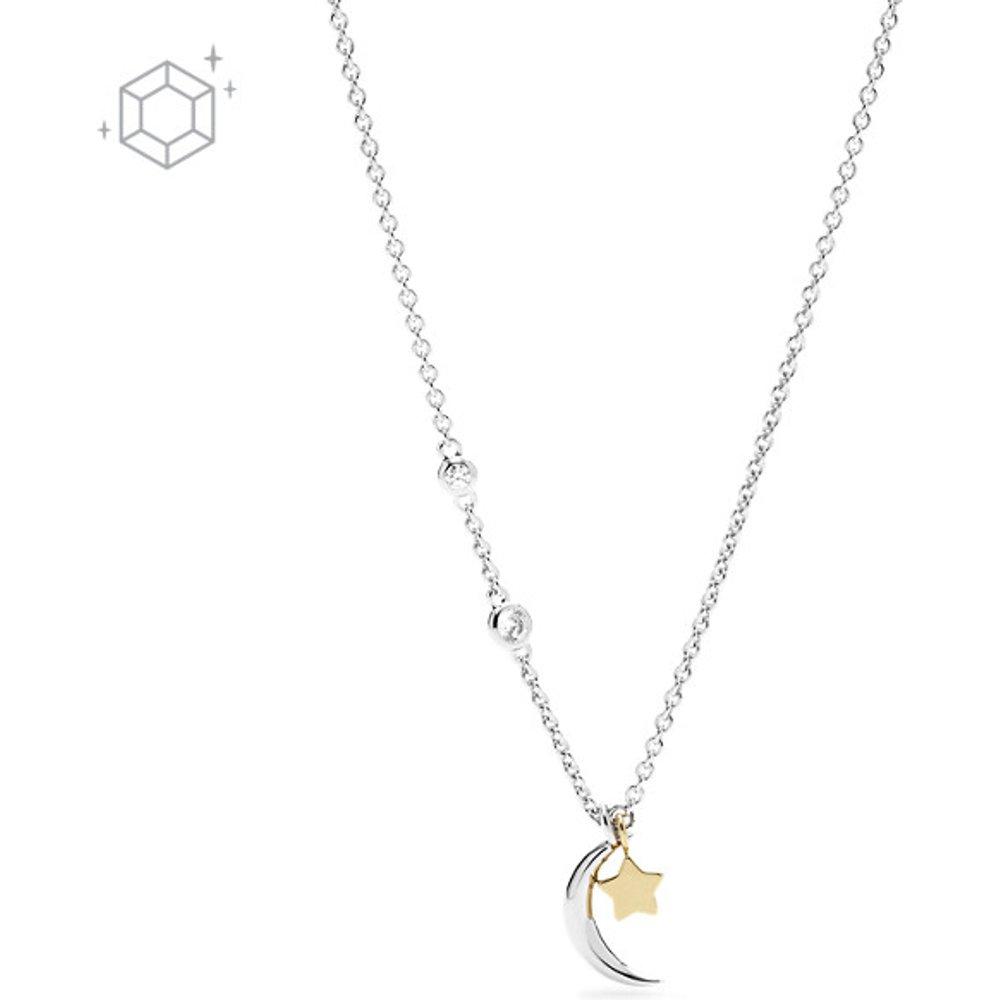 Women Collier Étoile Et Croissant De Lune En Argent Sterling - One size - Fossil - Modalova